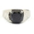 1-3 Ct Certified Cushion Cut Black Diamond Solitaire Ring - ZeeDiamonds