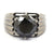 3 Ct Black Diamond Solitaire Ring, Engagement Ring For Men's - ZeeDiamonds