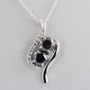 3 Ct Black Diamond Solitaire Pendant with Diamond Accents