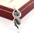 Elegant & Delicate Two Stone Black Diamond Pendant With White Diamonds