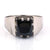 2.5 Carats AAA Certified Black Diamond Solitaire Ring - ZeeDiamonds
