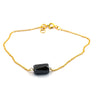 4.50 Carats Pipe Shape Black Diamond Chain Bracelet, Great Shine - ZeeDiamonds