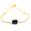 3.80 Ct Pipe Cut Black Diamond Silver Chain Bracelet In Yellow Gold - ZeeDiamonds