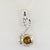 1.5 Ct Champagne Diamond Pendant With White Diamond Accents, - ZeeDiamonds