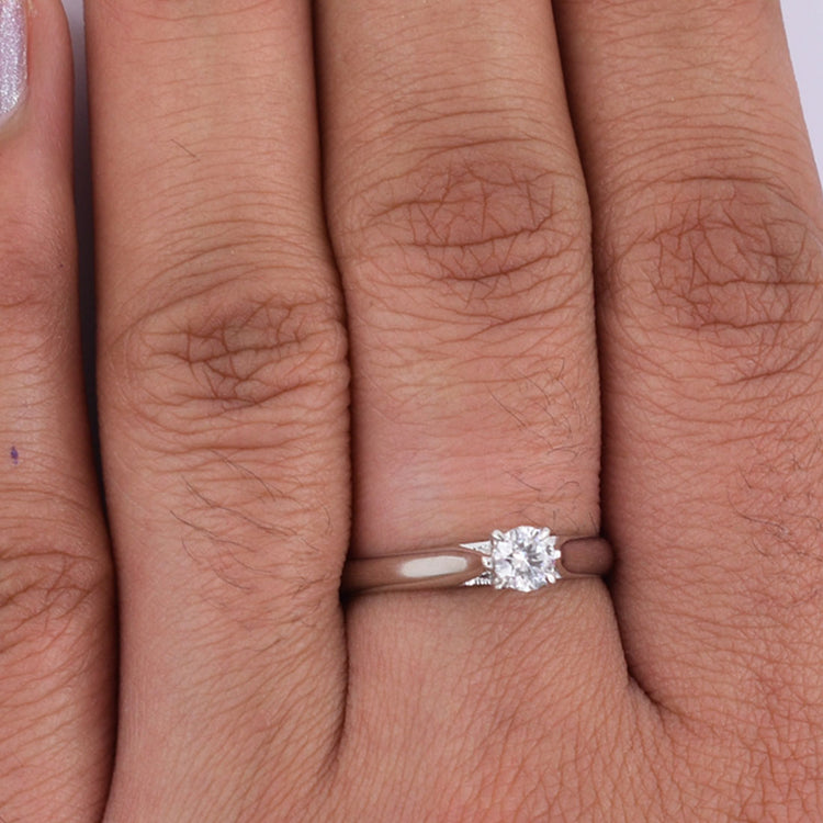 0.50 Ct Solitaire Diamond Ring in Solid Gold. Engagement Ring - ZeeDiamonds