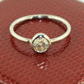 0.36 Ct Solitaire Diamond Engagement Ring in Solid Gold - ZeeDiamonds