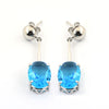 5.61 Cts Blue Topaz Gemstone Designer Earrings For Women's Gift - ZeeDiamonds