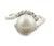 South Sea Pearl Ring With With VVS White Diamond Accents