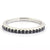0.55 Cents Black Diamond Band Ring in Sterling Silver - ZeeDiamonds