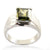 Princess Cut Blue Diamond Solitaire Ring 3 Ct For Men's