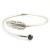 1 Ct Blue Diamond Bangle Bracelet in 925 Sterling Silver - ZeeDiamonds