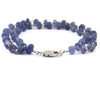 5 mm 100% Certified Tanzanite Gemstone Beads Silver Wire Fancy Bracelet - ZeeDiamonds