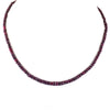 73 Ct Certified Natural African Ruby Gemstone Necklace, Great Luster