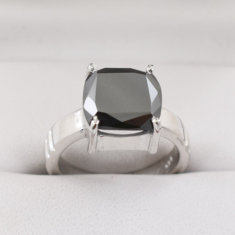 Amazing Shine ! Details about  /4.20 Ct Cushion Cut Black Diamond Solitaire Ring in Rose Gold