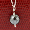 8mm AAA Certified Black Diamond Chain Necklace In 925 Silver.Certified!