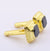 6.85 Cts Black Diamond Cuff-links In Yellow Gold-Diamond Cuff-links,Men's Gift - ZeeDiamonds
