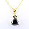4.75 Ct Black Diamond Designer Pendant with Accents, AAA Certified - ZeeDiamonds