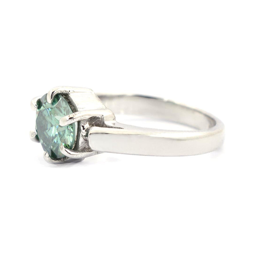 1-3 CT ROUND BRILLIANT CUT BLUE DIAMOND SOLITAIRE RING - ZeeDiamonds