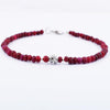 Certified 4 mm Cabochon Ruby Gemstone Bracelet with Silver Finding