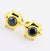 3.70 Ct Black Diamond Cuff-links In Yellow Gold-Diamond Cuff-links, Men's Gift - ZeeDiamonds