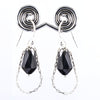 12.80 Ct AAA Certified Black Diamonds Dangler Earrings- Latest Design