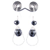 AAA Certified Black Diamonds Dangler Earrings, Stunning Collection