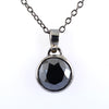 3.90 Ct Certified Brilliant Cut Black Diamond Solitaire Pendant with Bezel Setting