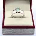 1-3 CT ROUND CUT BLUE DIAMOND SOLITAIRE RING IN STERLING SILVER - ZeeDiamonds
