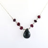 18.25 Ct Certified Ruby & Emerald Gemstone Chain Necklace In 925 Silver