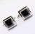 5.60 Ct Black Diamond Cuff-links In White Gold-Diamond Cuff