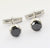 3.70 Ct Black Diamond Cuff-links In White Gold Diamond Cuff-links, Men's Gift - ZeeDiamonds