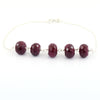 AAA Certified 5-6 mm Faceted Ruby Gemstone Chain Bracelet