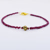AAA Certified 4 mm Ruby Gemstone Bracelet with Silver Finding