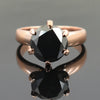 2.75 Ct AAA Quality Round Brilliant Cut Black Diamond Solitaire Ring - ZeeDiamonds