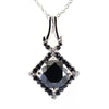 1.20 Ct Black Diamond beautiful Pendant with Black Accents, AAA Certified