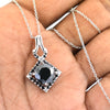 3 Ct Black Diamond Beautiful Pendant with Black Accents, AAA Certified