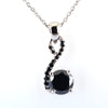 1.50 Ct Certified Gorgeous Black Diamond Pendant with Black Accents