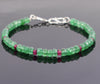 Certified Emerald Gemstone & Ruby Bead Bracelet, Great Shine & Luster - ZeeDiamonds