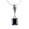 3.15 Ct Black Diamond Designer Pendant with Black Accents on Loop - ZeeDiamonds