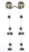 4 mm Certified Elegant Black Diamonds Dangler Earrings- Daily Wear