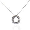 Elegant White Diamond Pendant with VVS White Diamond Accents