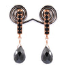6.50 Ct AAA Certified Black Diamond Designer Earrings For Women's