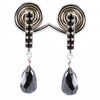 Elegant Black Diamond Designer Earrings in 925 Silver, AAA Certified - ZeeDiamonds