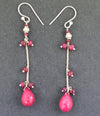 AAA Certified Natural African Ruby Gemstone Earrings, Latest Design