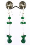 AAA Certified Emerald Gemstone Dangler Earrings, Beautiful Design