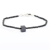 AAA Certified 4 mm Black Diamond Bracelet with 7 mm Center Bead