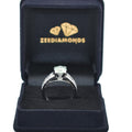 1-2 CT, BLUE DIAMOND SOLITAIRE RING IN STERLING SILVER - ZeeDiamonds