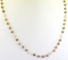 4-5 mm Champagne & White Diamond Necklace in 18 Inches