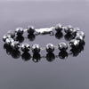 AAA Certified 8 mm Black Diamond Chain Bracelet, Anniversary Gift