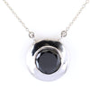 12.80 Ct AAA Quality Brilliant Cut Black Diamond Solitaire Pendant in Bezel Setting - ZeeDiamonds
